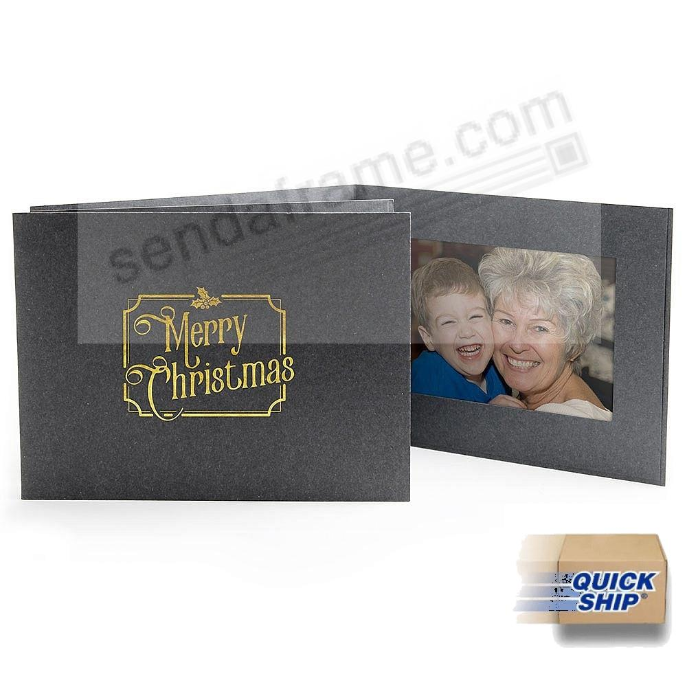 TRADITIONAL MERRY CHRISTMAS Photomount Folder 6x4 frame (sold in 25's)