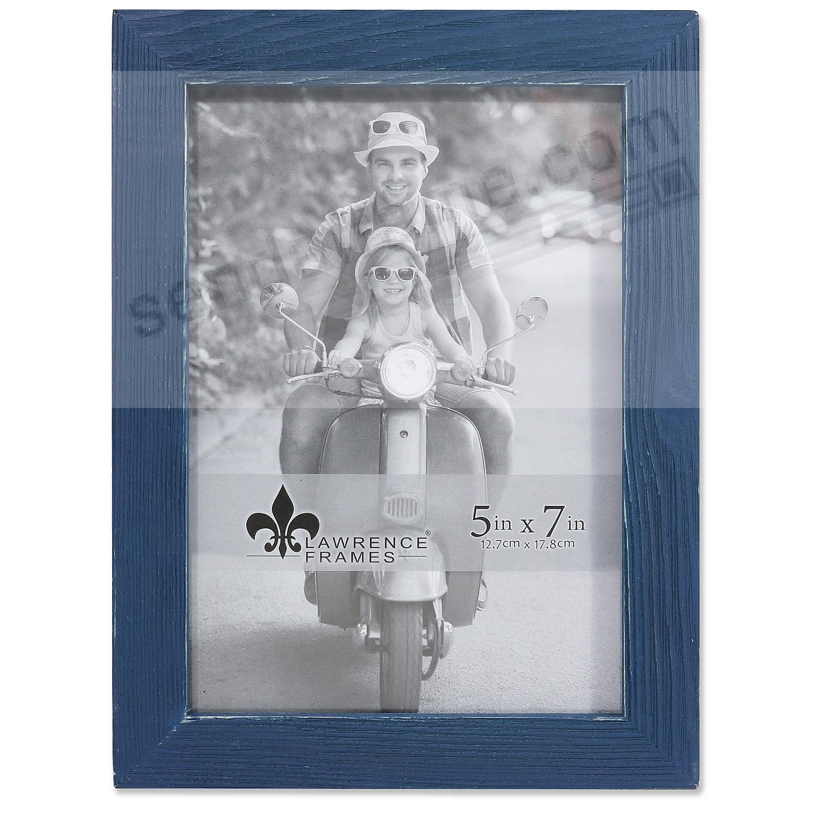 Weathered CHARLOTTE NAVY-BLUE WOOD frame by Lawrence® - Picture ...
