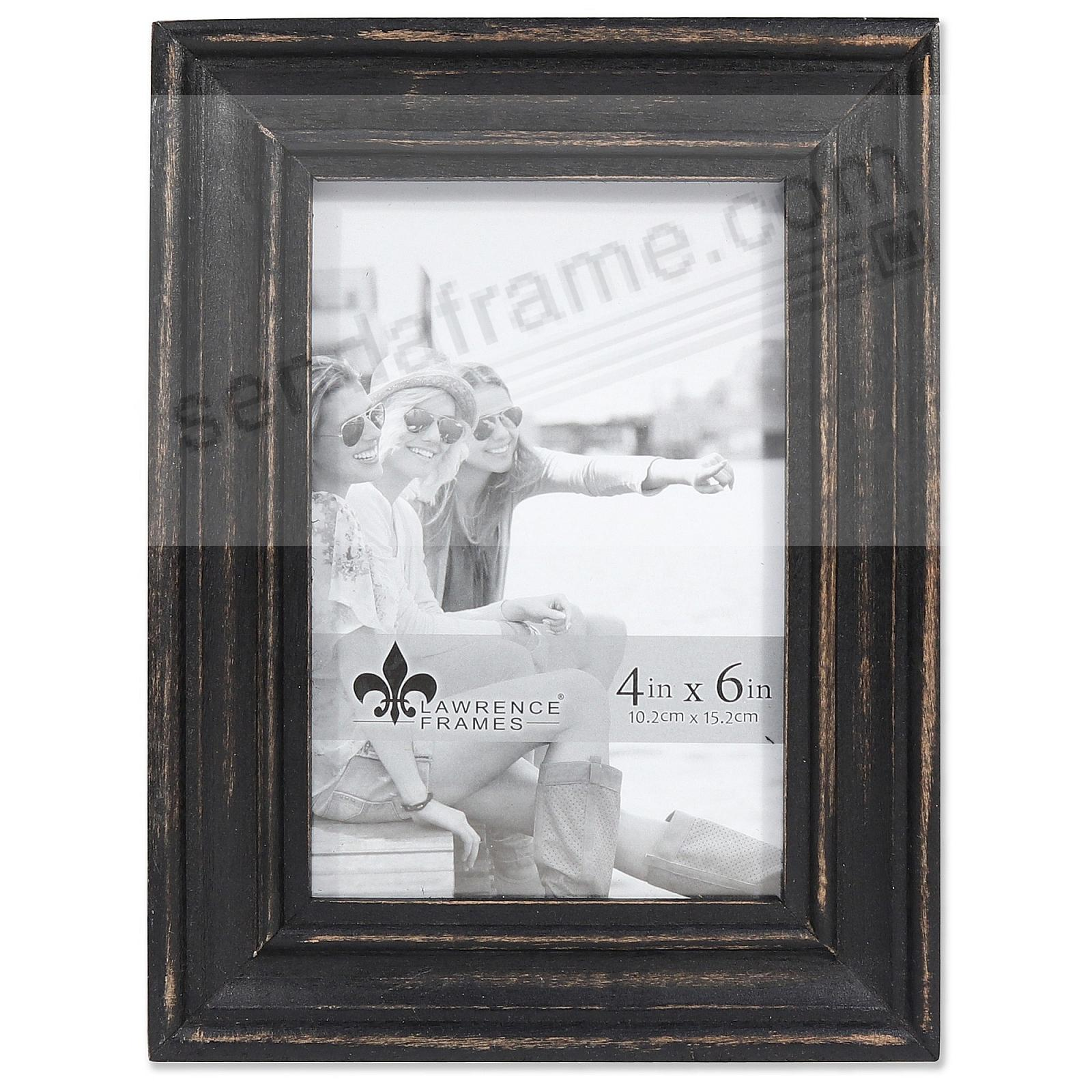 Weathered DURHAM BLACK WOOD frame by Lawrence® - Picture Frames ...
