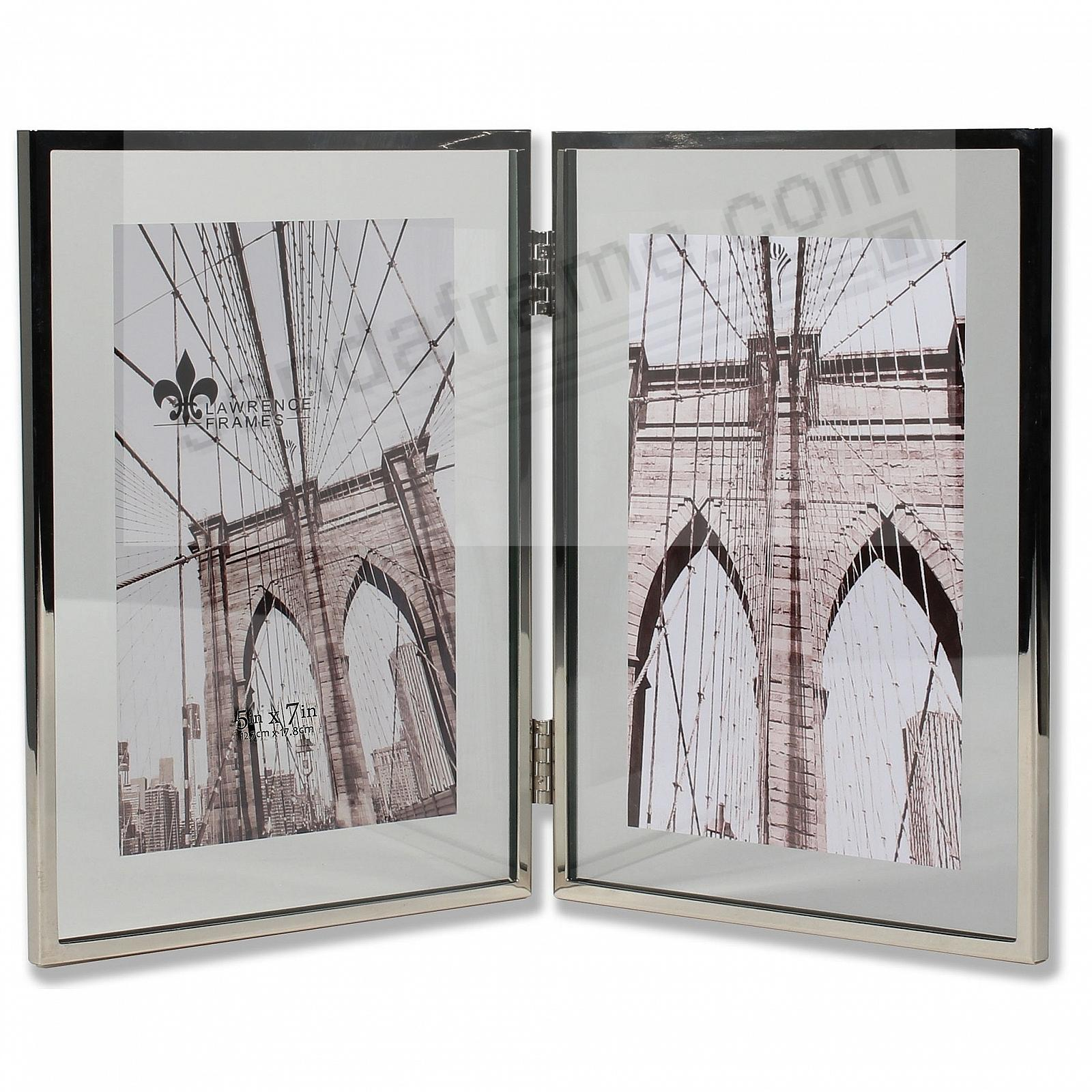 HARLAND SILVER + Glass Float Frame 7x9/5x7 Hinged Double