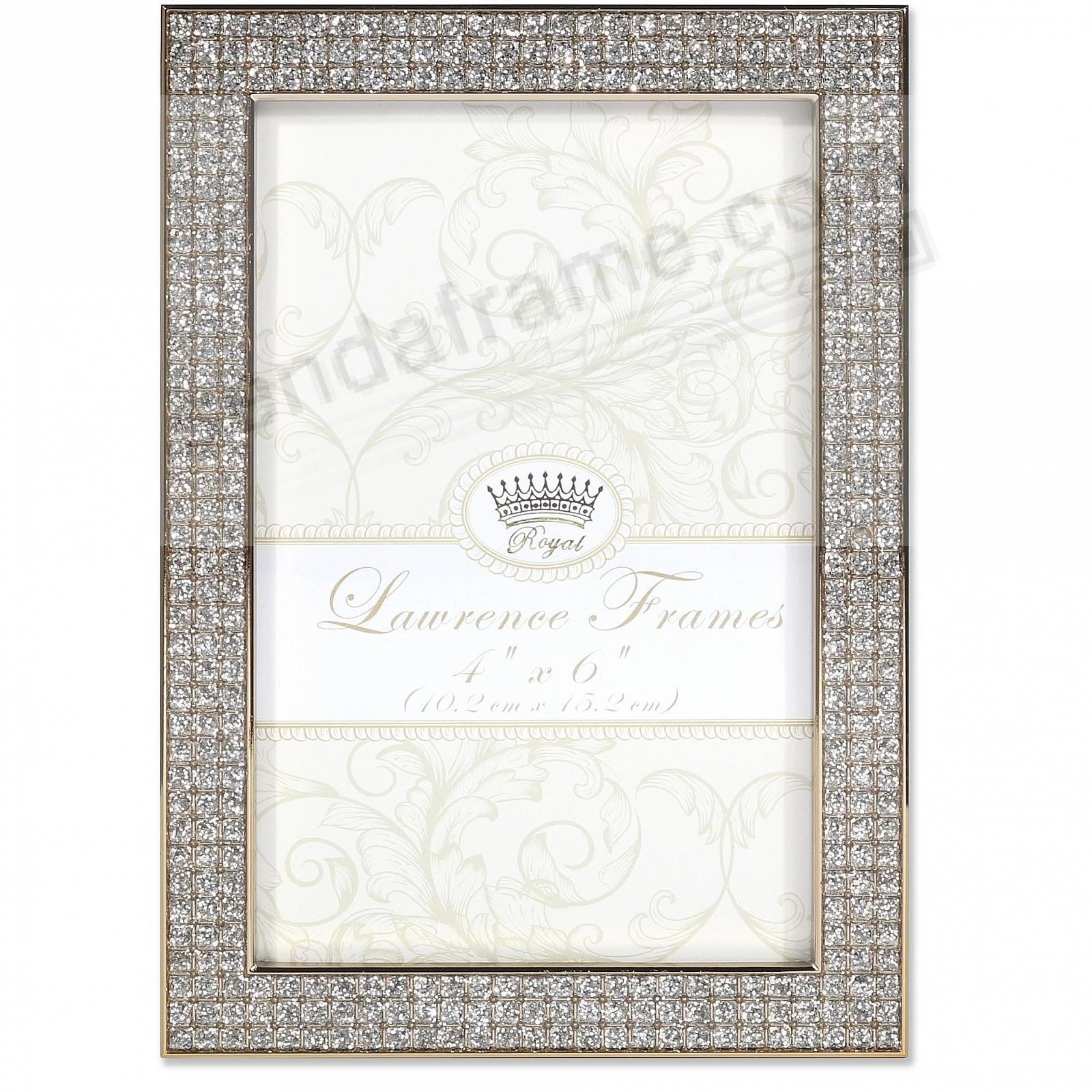 WHITE JEWELS GOLD/Crystal frame