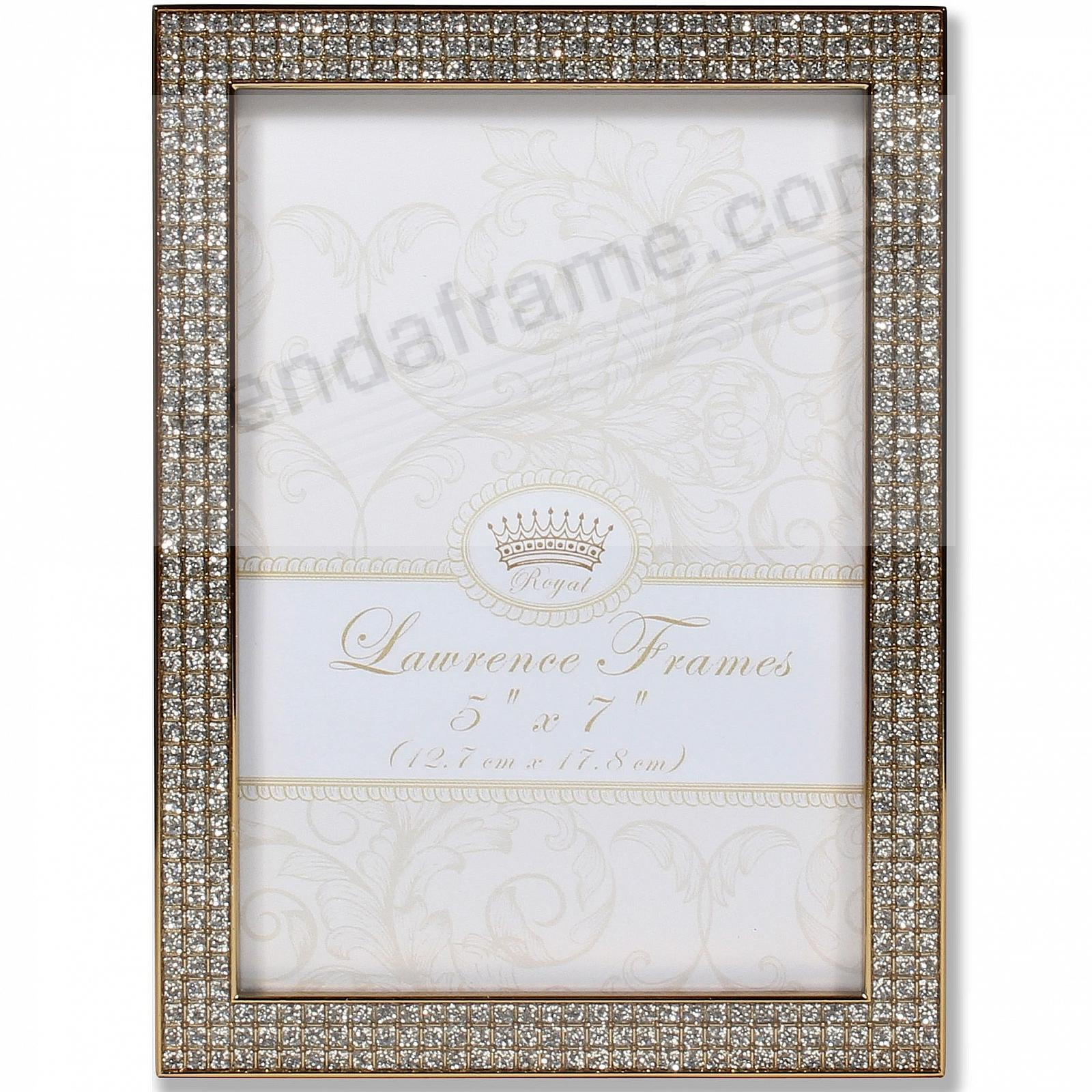 WHITE JEWELS GOLD/Crystal 5x7 frame