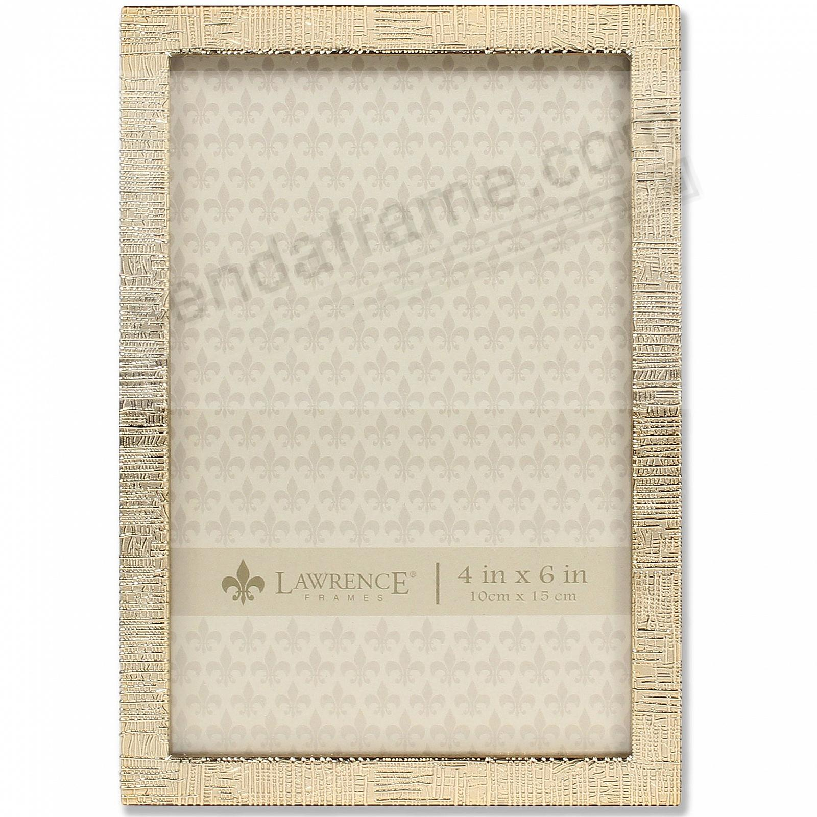 GOLD LINEN Pattern frame by Lawrence Frames®