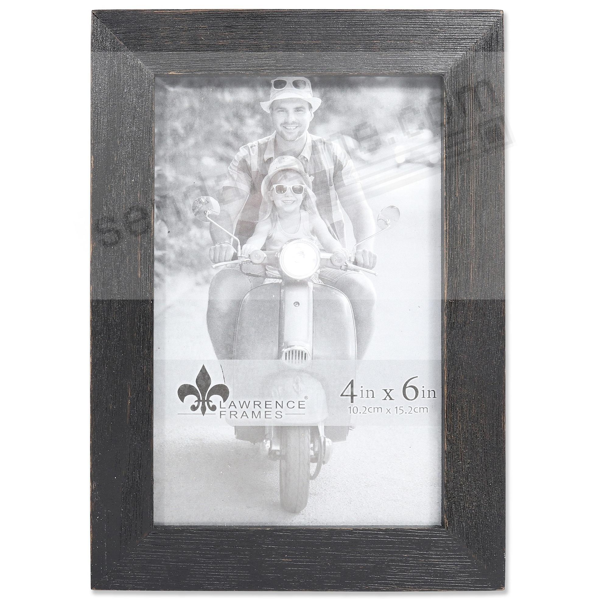 Weathered CHARLOTTE BLACK WOOD frame by Lawrence® - Picture Frames ...