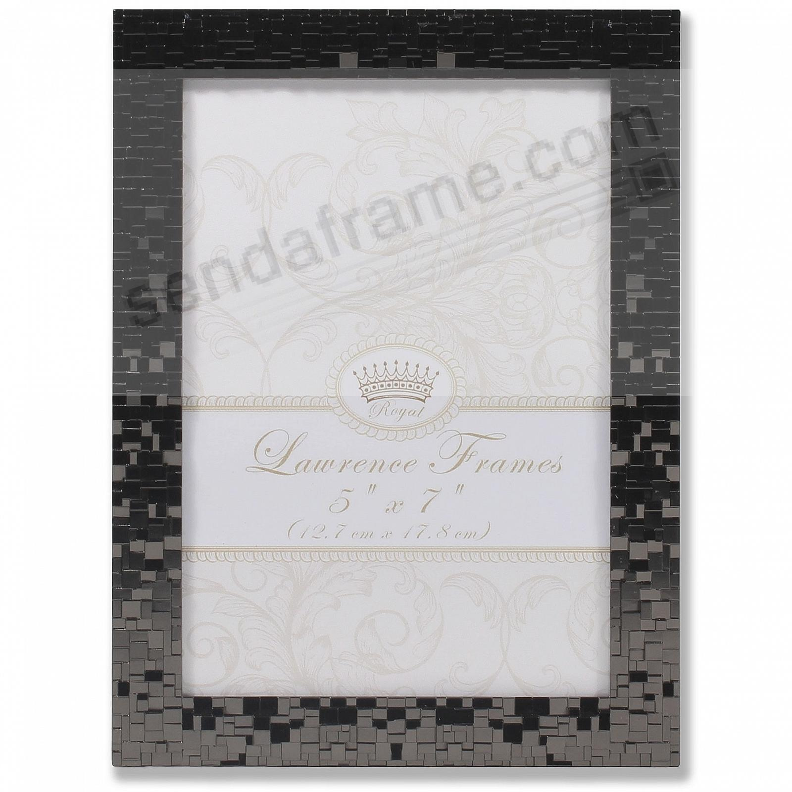Luxx Metallic Faceted Black frame by Lawrence Frames®
