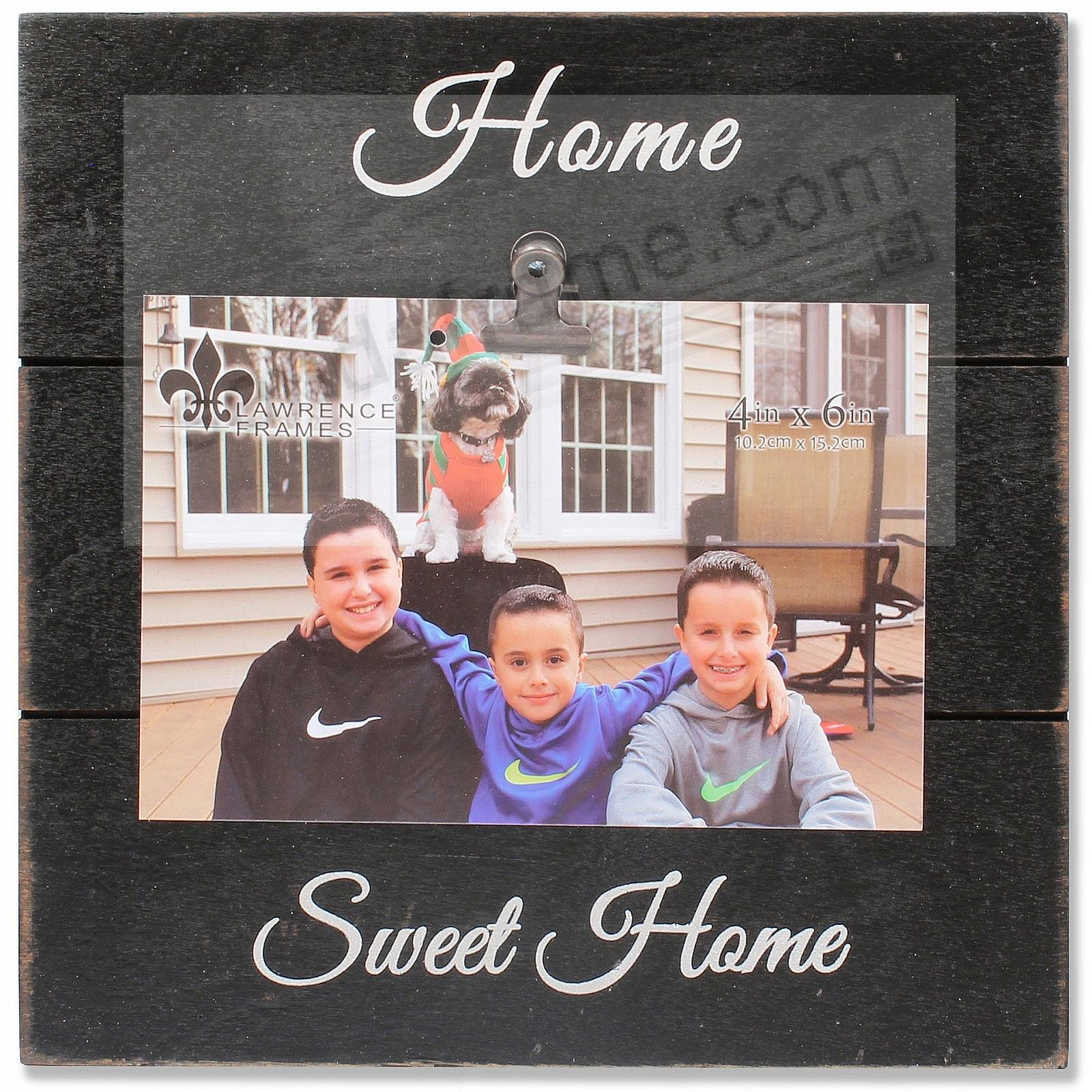 Black Weathered Clip Frame HOME SWEET HOME