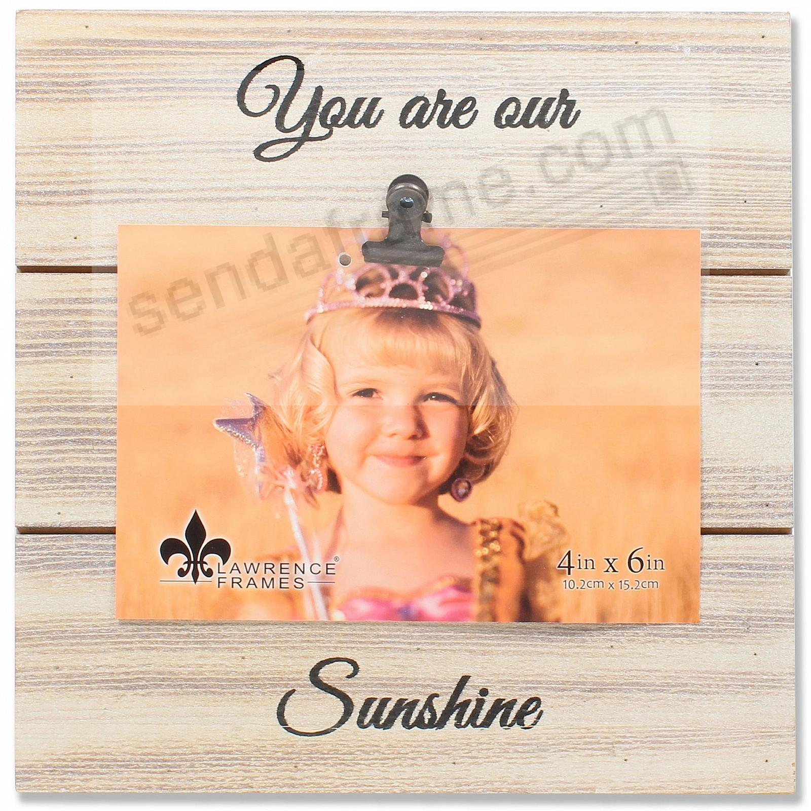 White Weathered Clip Frame YOU ARE OUR SUNSHINE