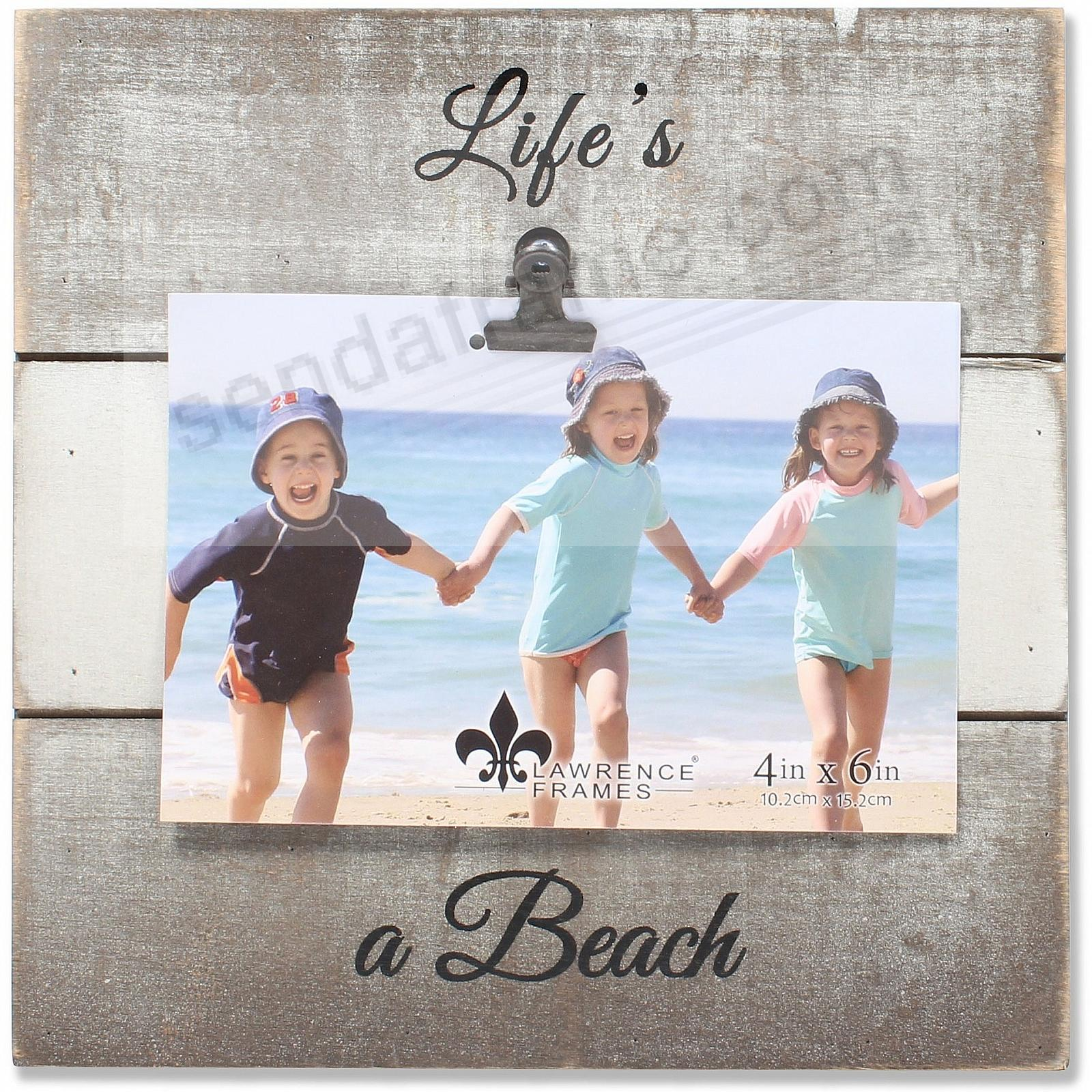 Gray Weathered Clip Frame LIFE'S A BEACH