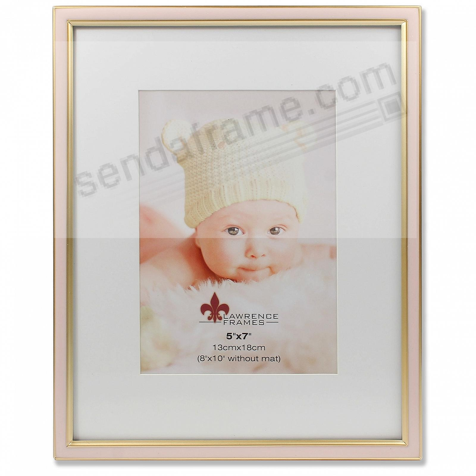 Matted Pink Enamel 8x10/5x7 Frame by Lawrence® - Picture Frames ...