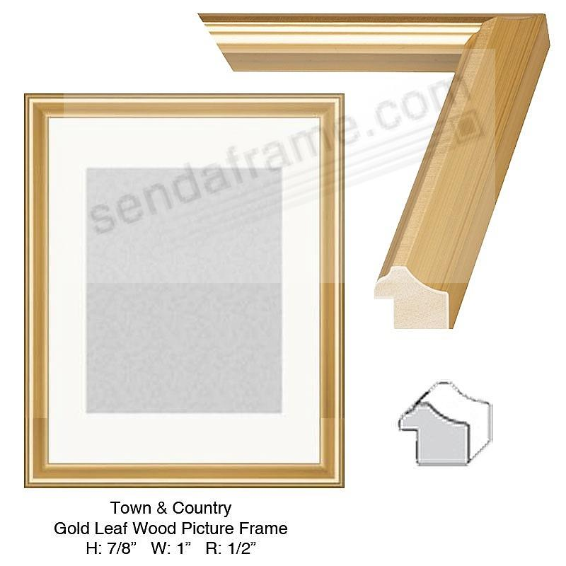 Custom-Cut™ Town + Country Gold Leaf H: 7/8 W: 1 R: 1/2 - Picture ...