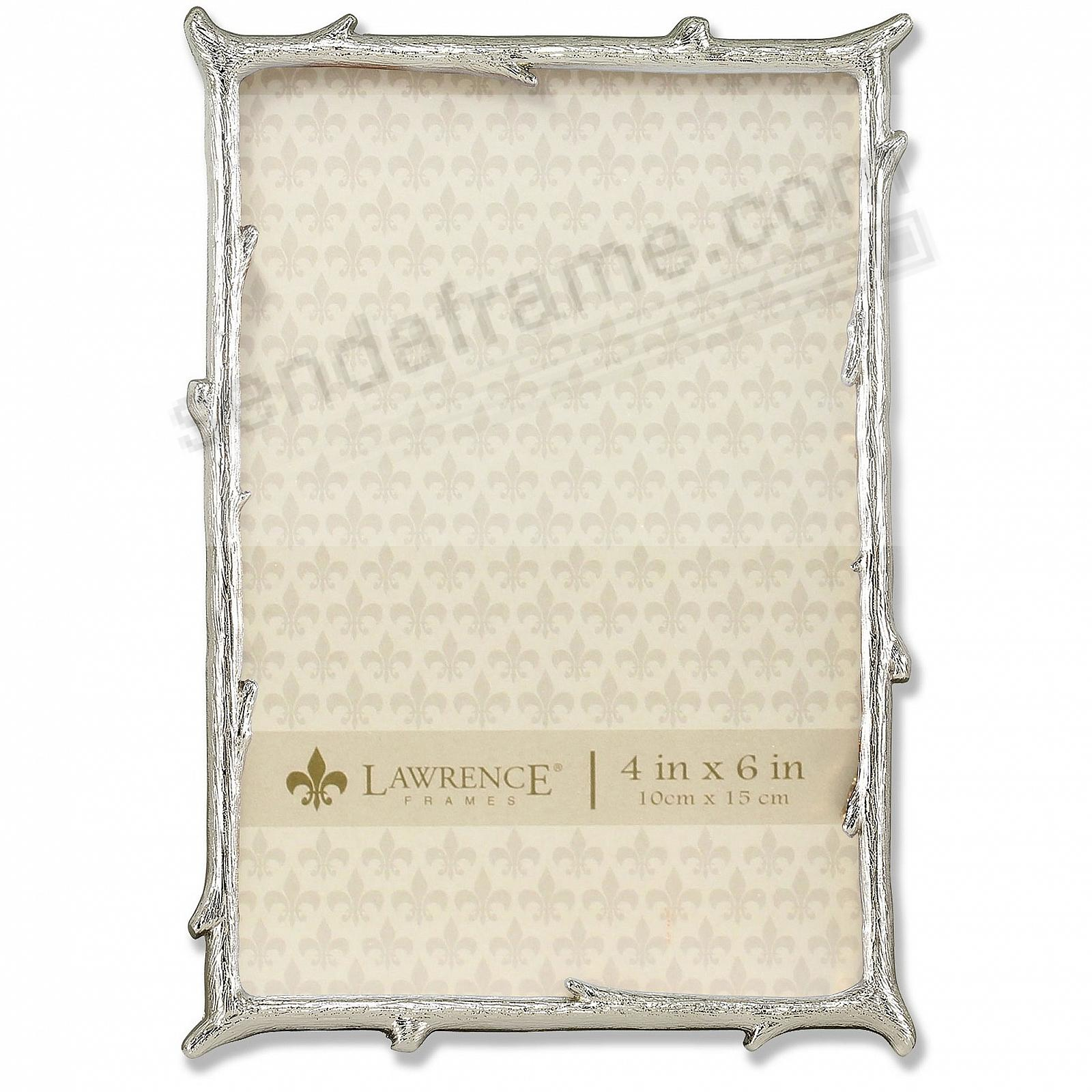 Silver Metal Frame Natural Branch Motif Frame by Lawrence®