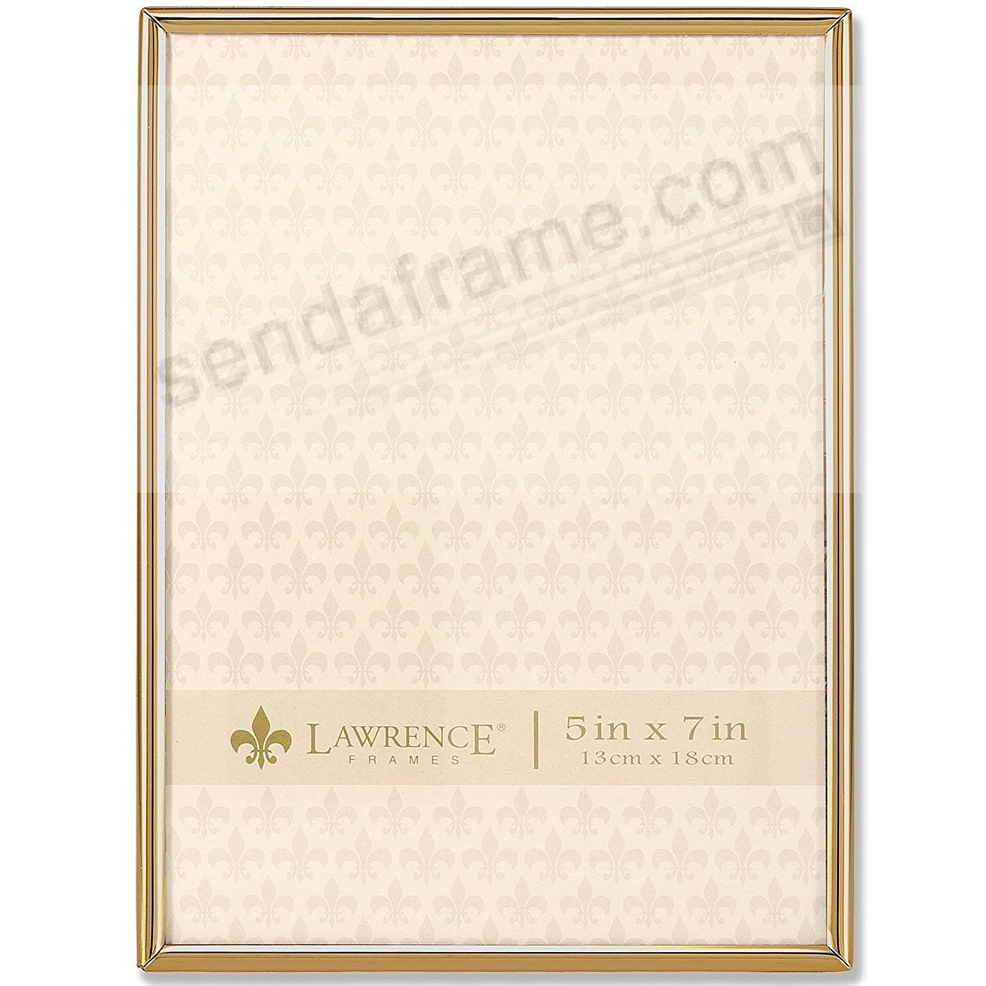 Polished SIMPLY GOLD 5x7 frame by Lawrence®