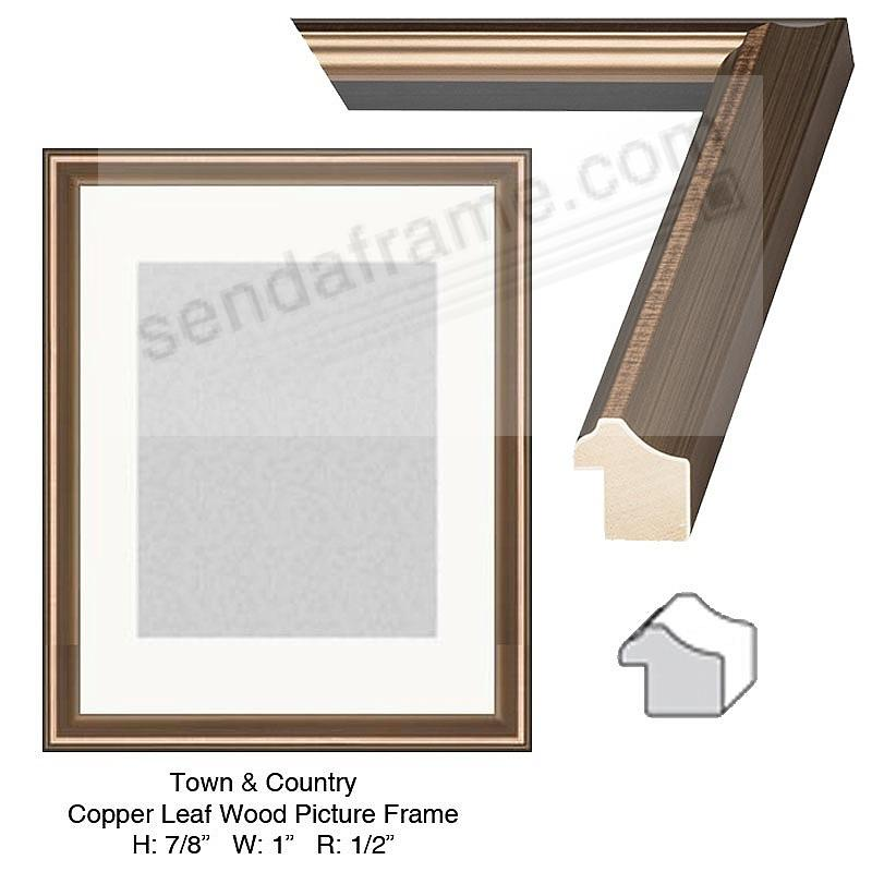 Custom-Cut™ Town + Country Copper Leaf H: 7/8  W: 1  R: 1/2
