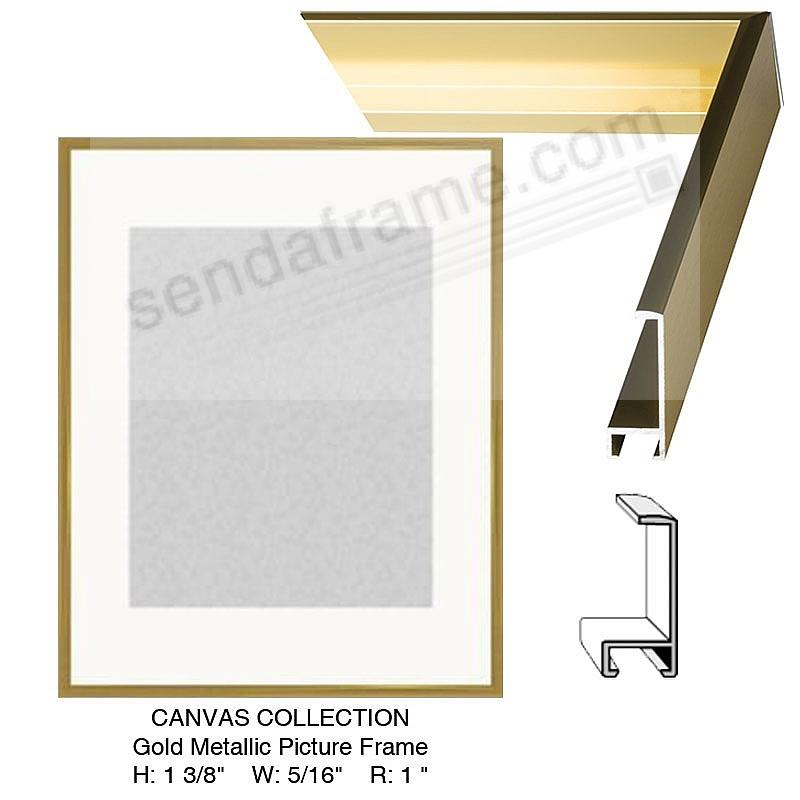 Custom-Cut™ CANVAS DEPTH Gold Metal H: 1 3/8 W: 5/16 R: 1 - Picture ...