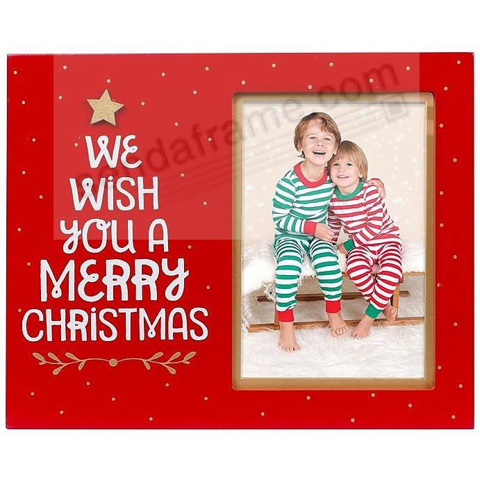 WE WISH YOU A MERRY Christmas 2017 frame by Pearhead®