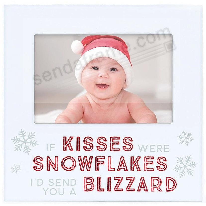 IF KISSES WERE SNOWFLAKES... Christmas 2017 frame by Pearhead®