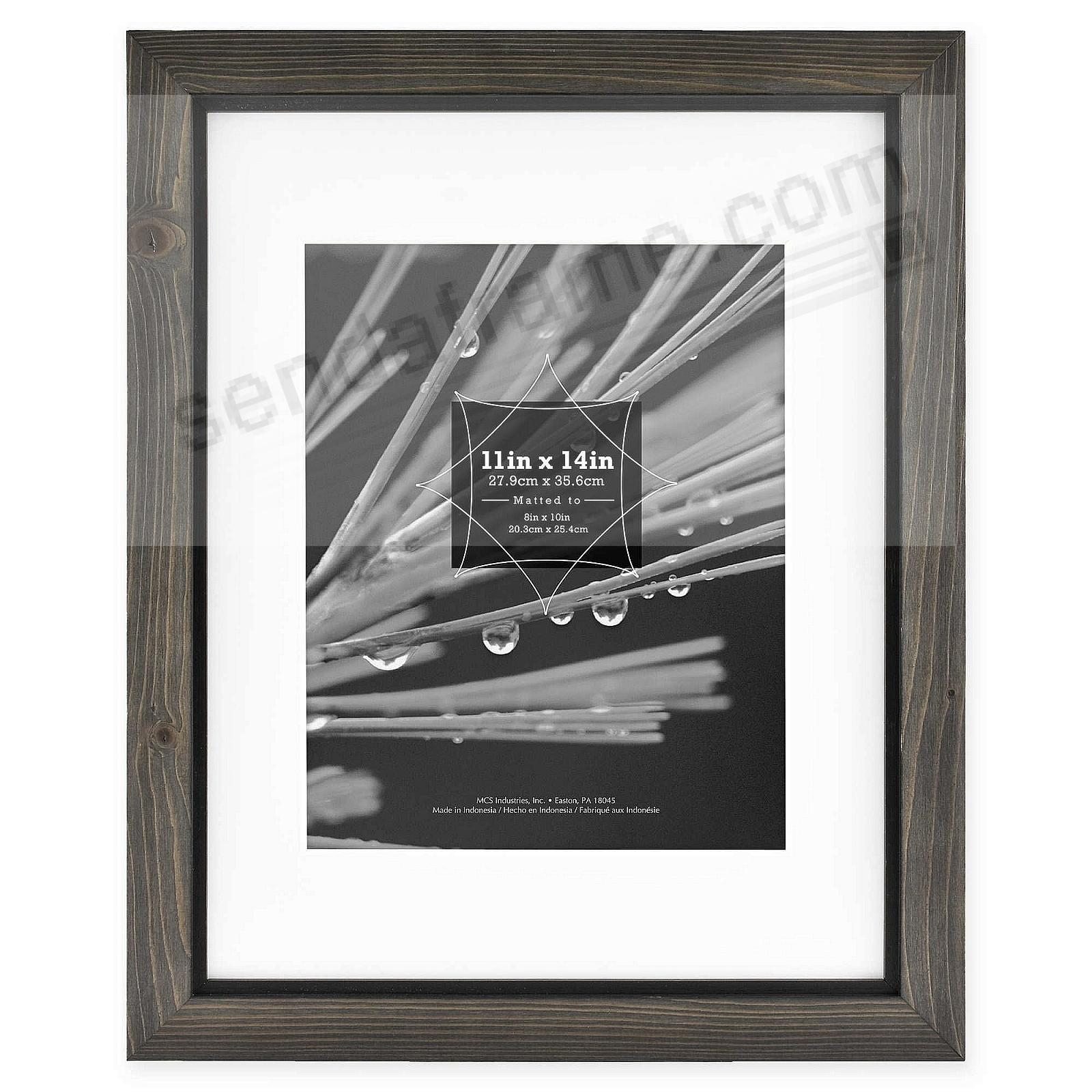 TIMBER Distressed Gray/Black 11x14/8x10 Wood Frame by MCS®