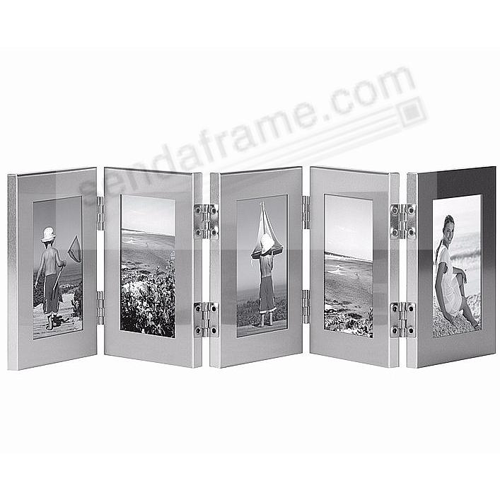 5-Opening Brushed Silver ACCORDION Hinged Screen for your favorite ...