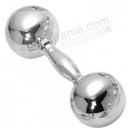 Sterling Silver PLAIN DUMBBELL Rattle by Cunill®