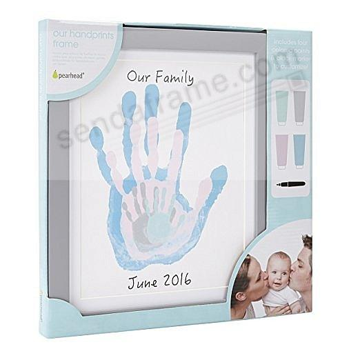 FAMILY HANDPRINT KIT frame GREY by Pearhead®