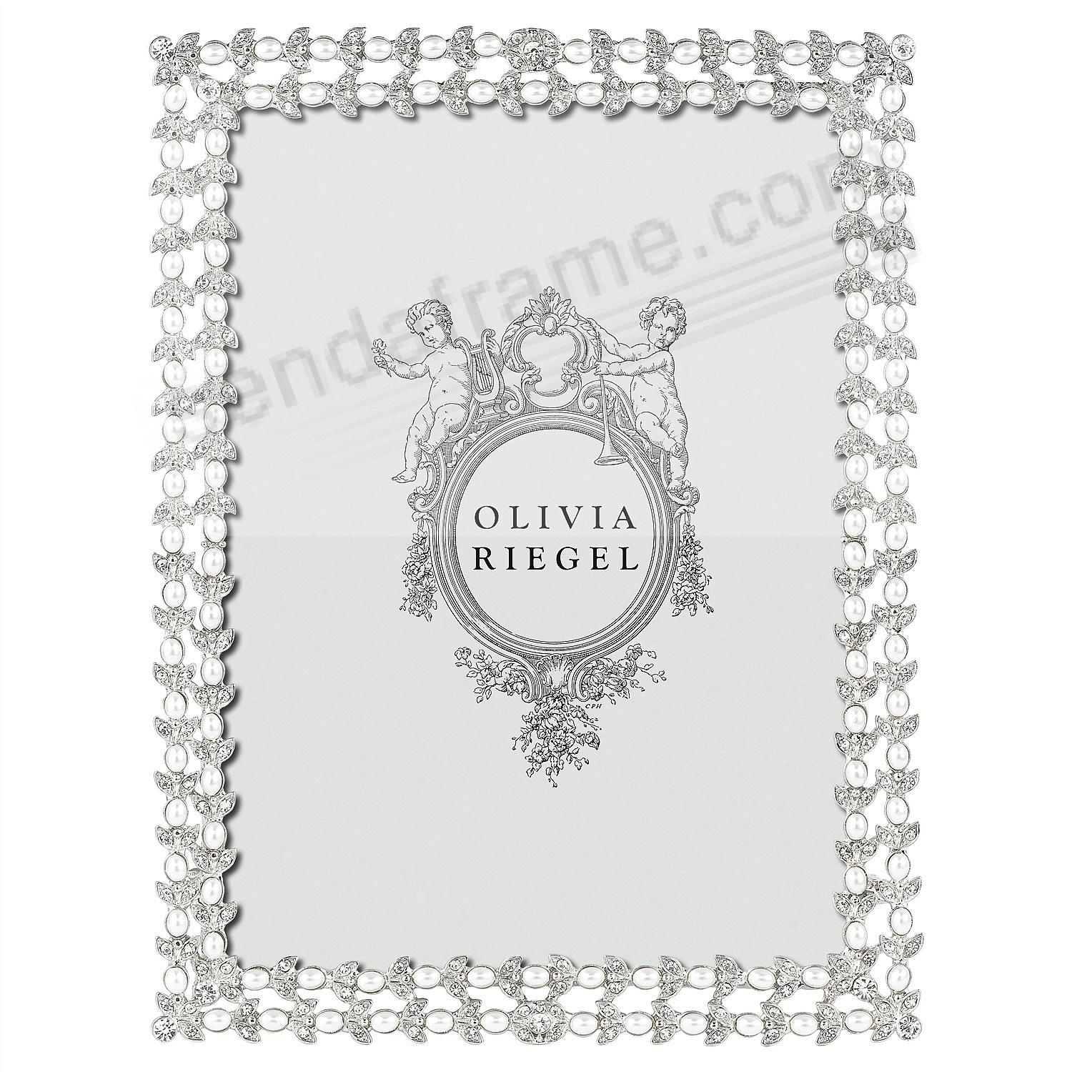CHARLOTTE SILVER Austrian Crystal/Pearl 5x7 frame by Olivia Riegel®