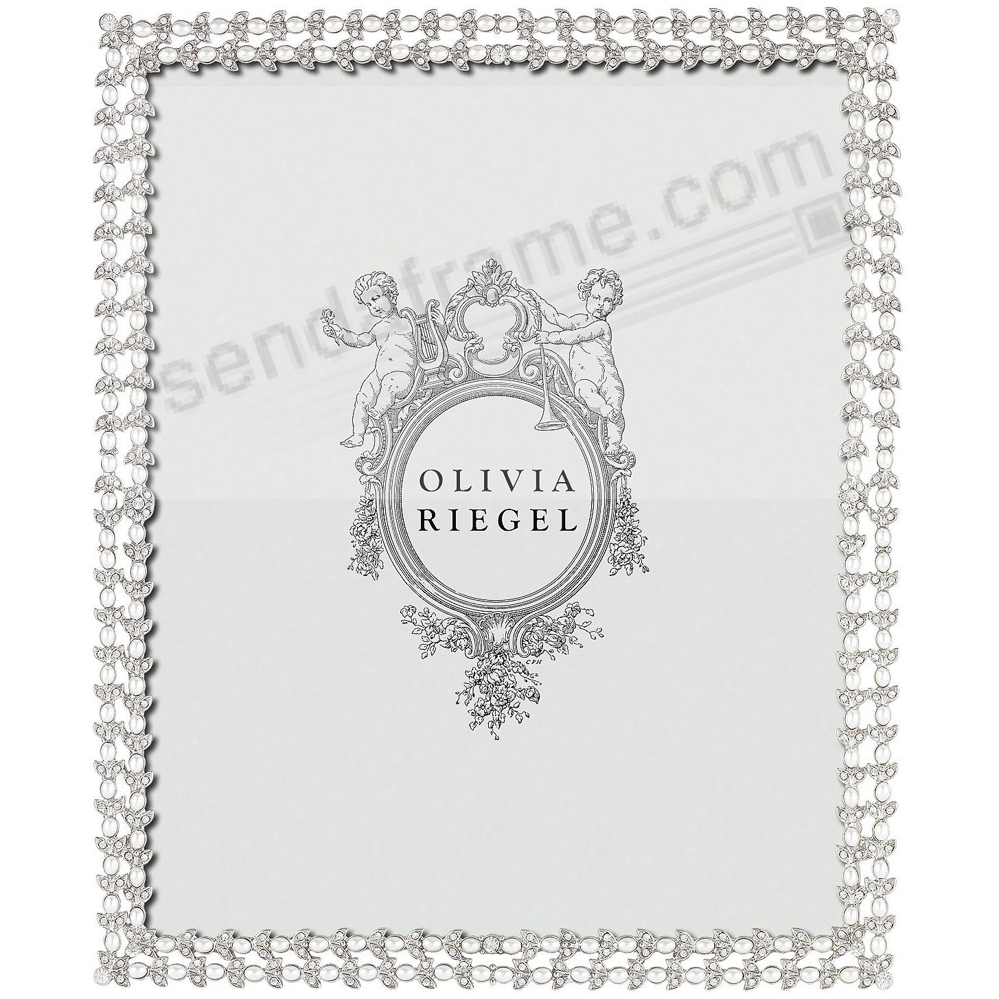 CHARLOTTE SILVER Austrian Crystal/Pearl 8x10 frame by Olivia Riegel®