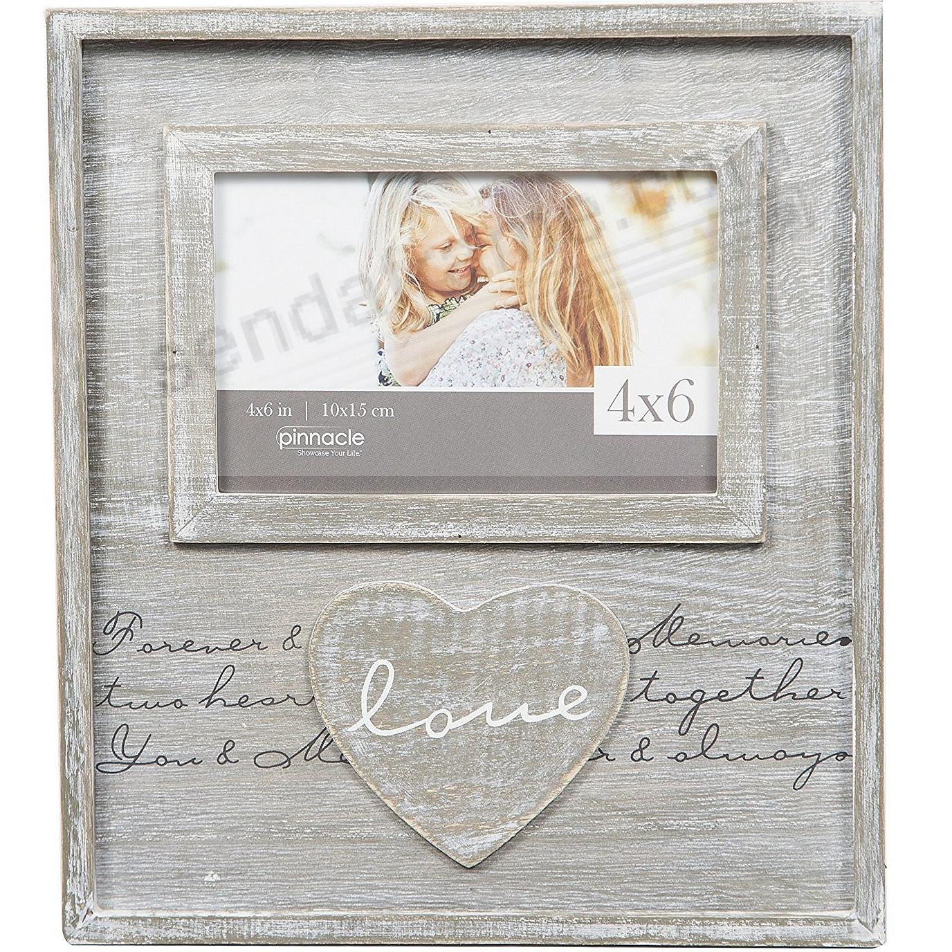 LOVE Script Distressed Wood Frame Sign by Pinnacle® - Picture Frames ...