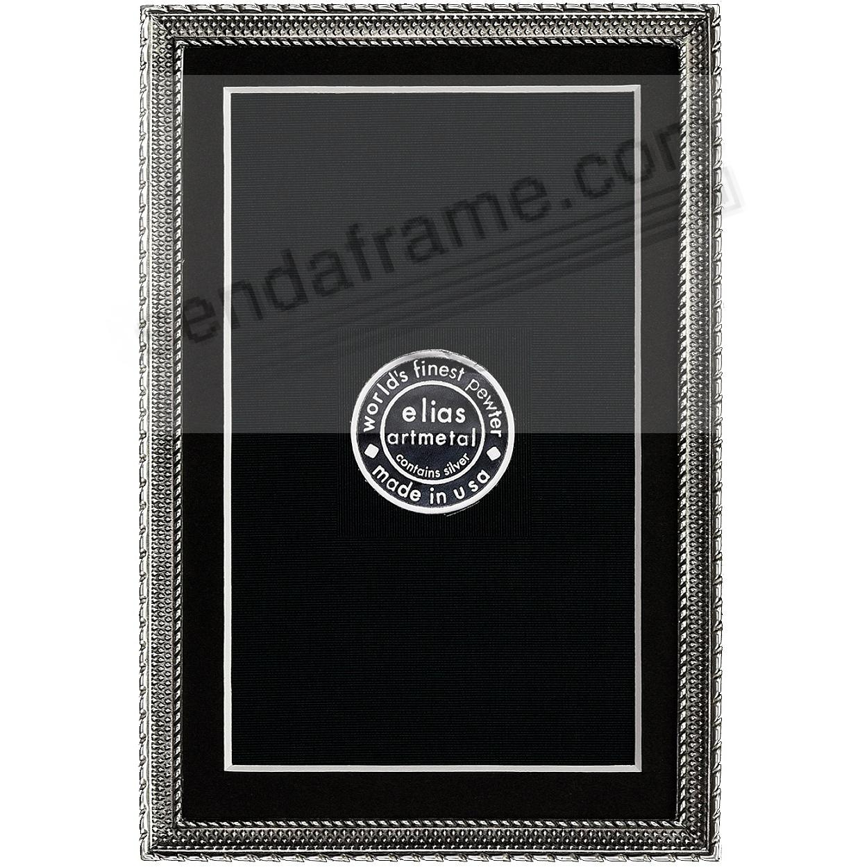 DOT-TO-DOT Fine Silvered Pewter frame 4x6/3½x5½ by Elias Artmetal®