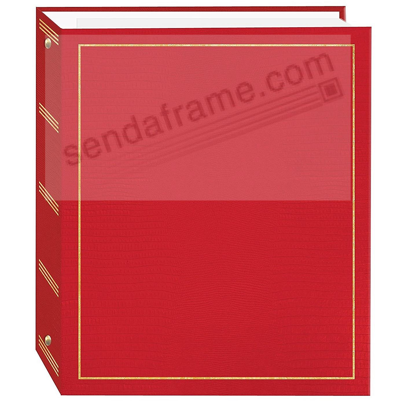 RED 3-ring album<br>w/EZ-stick magnetic pages