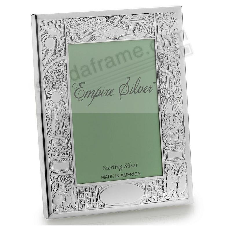 the original fine 925 sterling silver birth record frame by empire silver - Engraved Picture Frame
