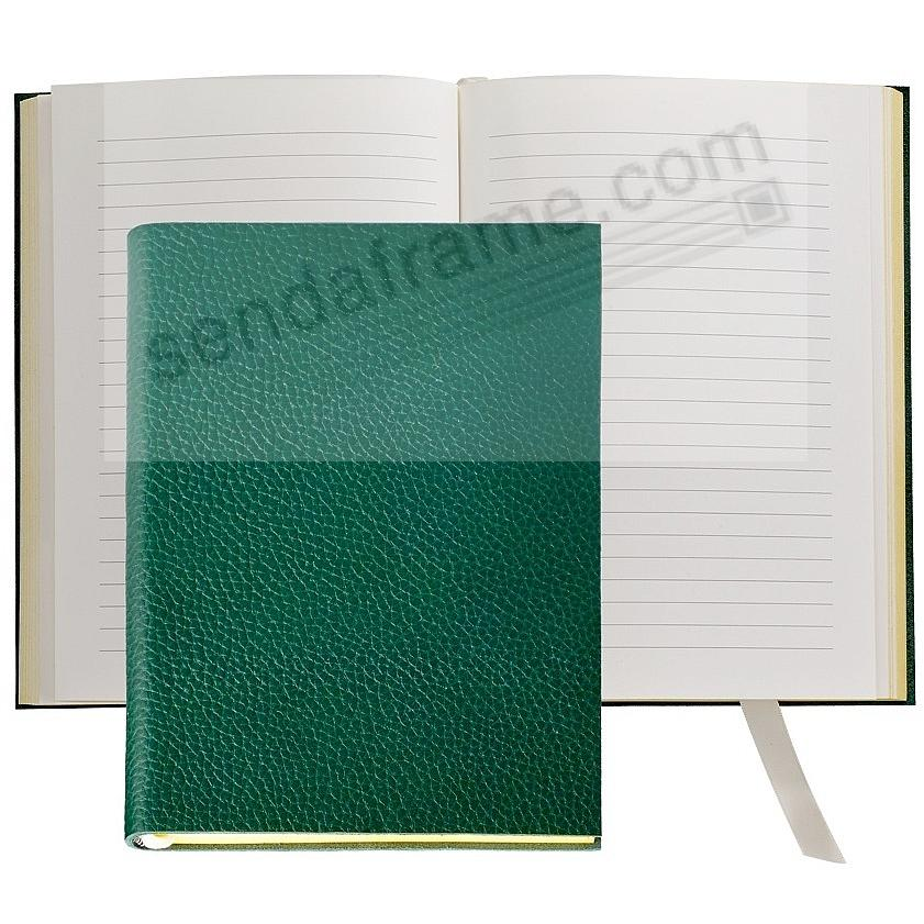 The MILLENNIAL JOURNAL Pebble-Grain Pine-Green Leather by Graphic Image™