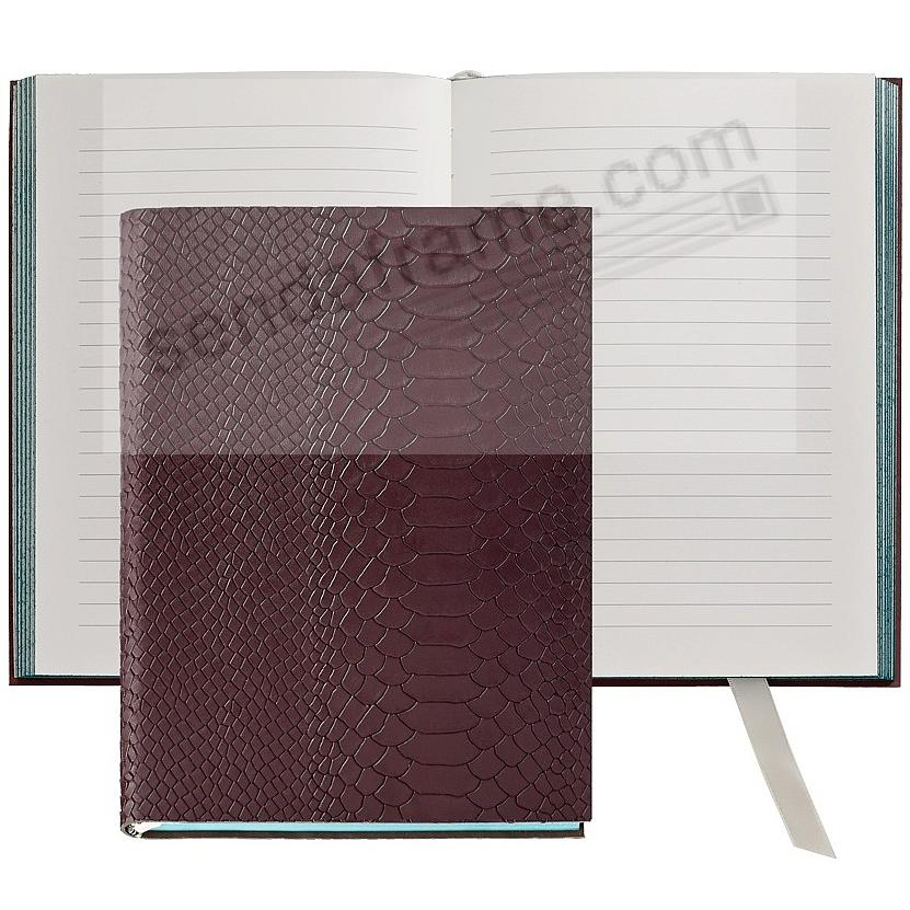 The Millennial Journal Burgundy Embossed Python Leather By Graphic