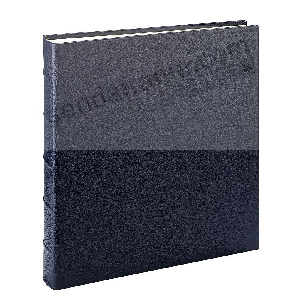 Large 13x13 Traditional Navy Blue Leather Bound Album Br By