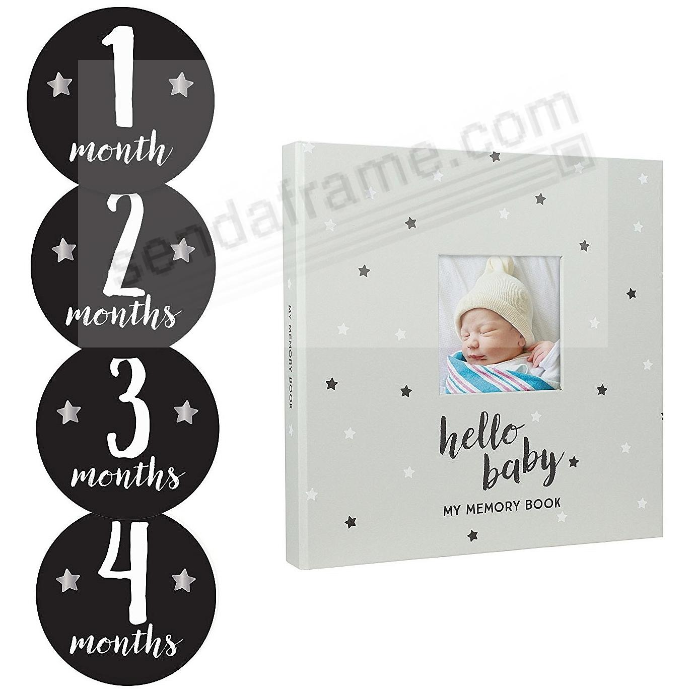 STARS BABY MEMORY BOOK + BABY BELLY STICKER SET by PEARHEAD®