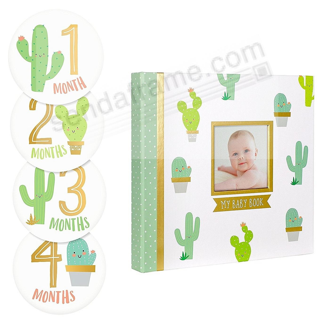 CACTUS BABY MEMORY BOOK + BABY BELLY STICKER SET by PEARHEAD®