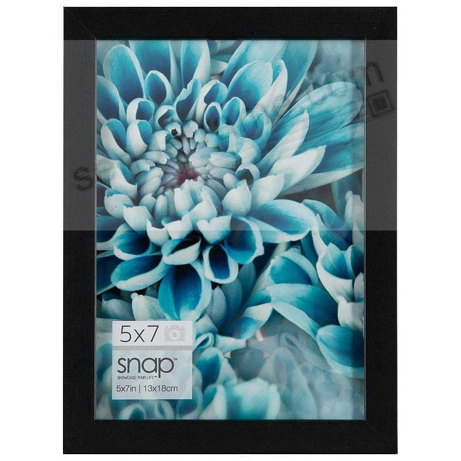Black Wall + Easel LINEAR 5x7 Frame by SNAP®