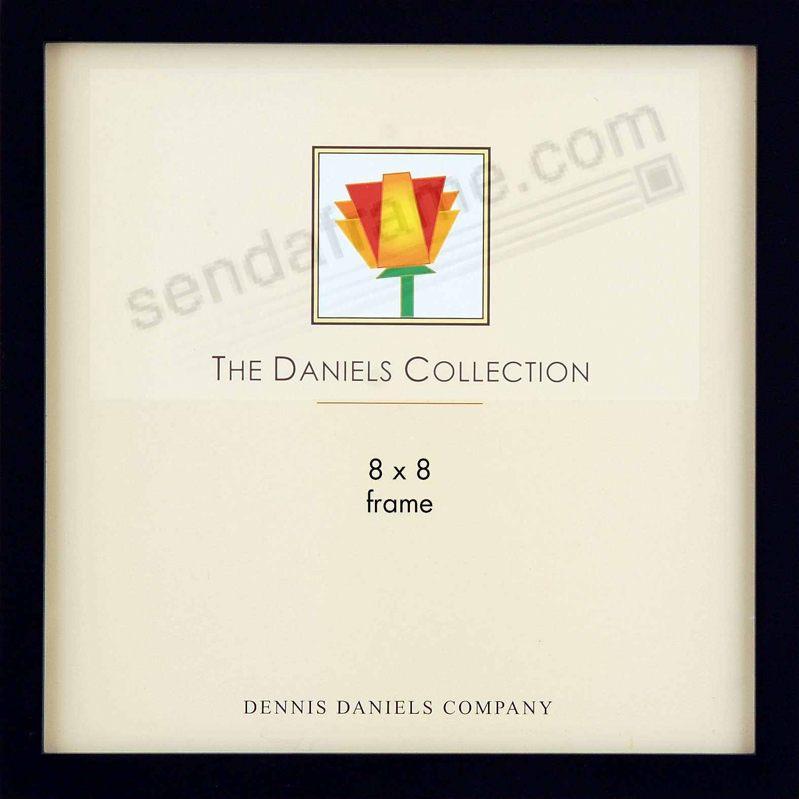The Original DANIELS W41: Square Corner GALLERY WOODS Ebony-Black finish 8x8 frame by Dennis Daniels®