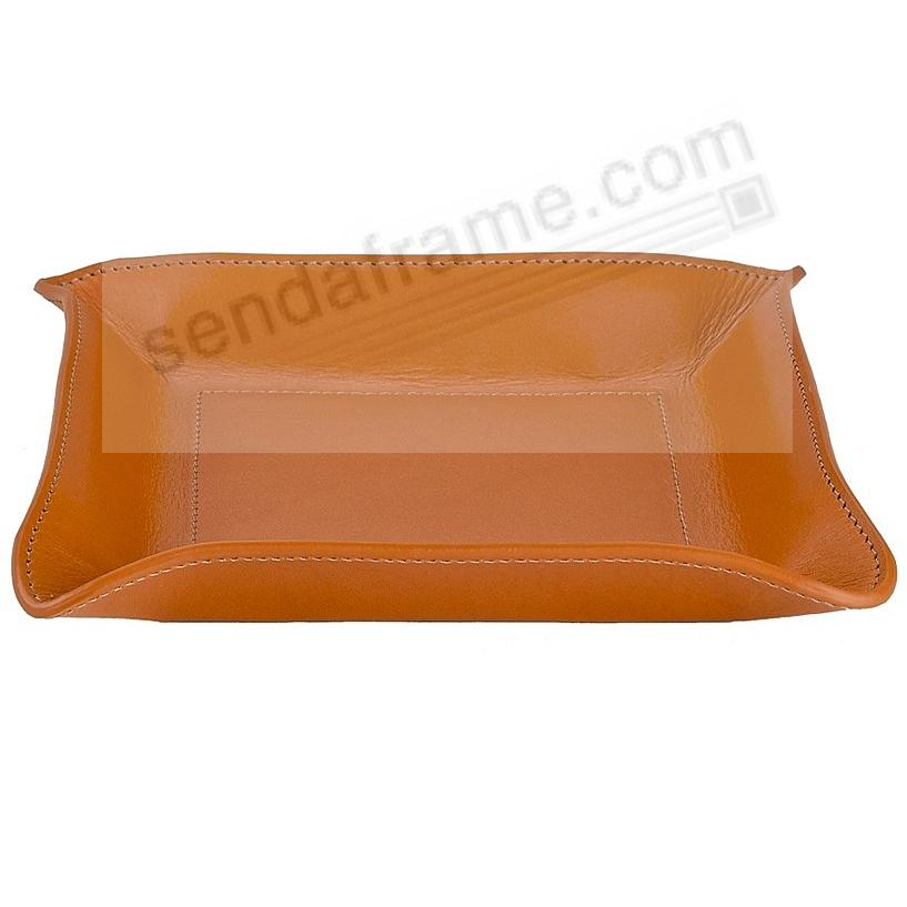 Valet Tray Catchall (Medium) Tan Vachetta Leather by Graphic Image™
