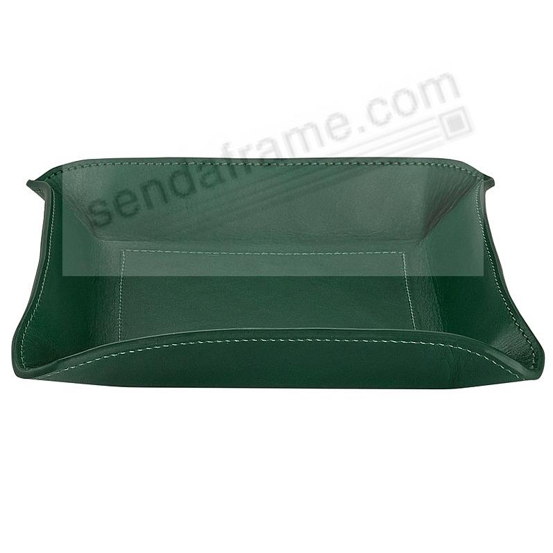 Valet Tray Catchall (Medium) GREEN Vachetta Leather by Graphic Image™