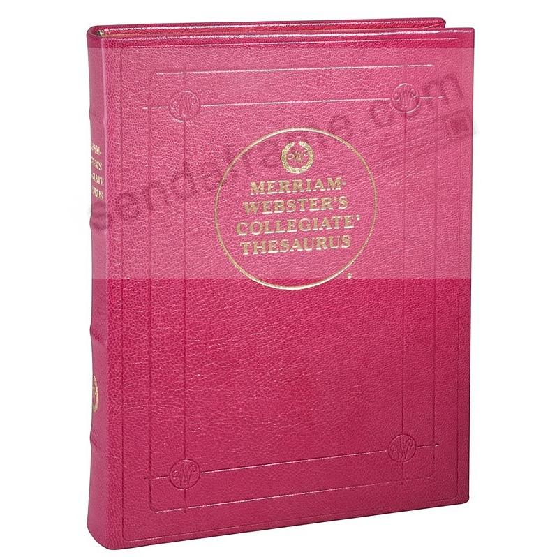 Merriam-Webster Collegiate THESAURUS PINK LEATHER by Graphic Image®