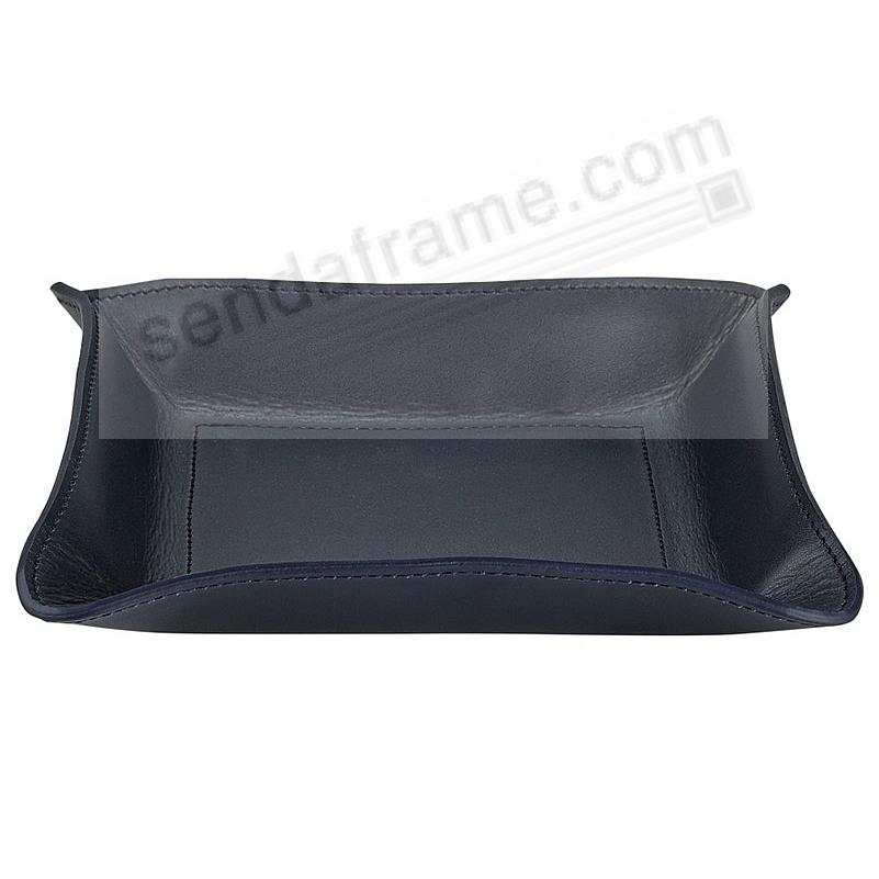 Valet Tray Catchall (Medium) NAVY-BLUE Vachetta Leather by Graphic Image™