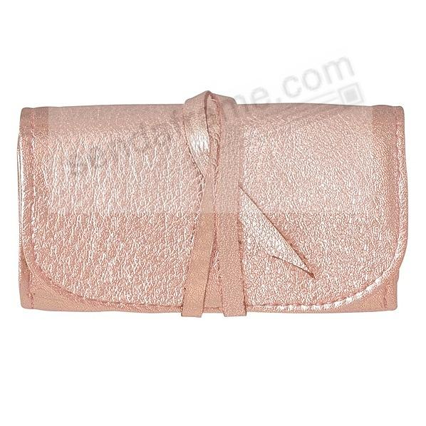 Metallics ROSE GOLD Fine Leather Jewel Roll by Graphic Image™