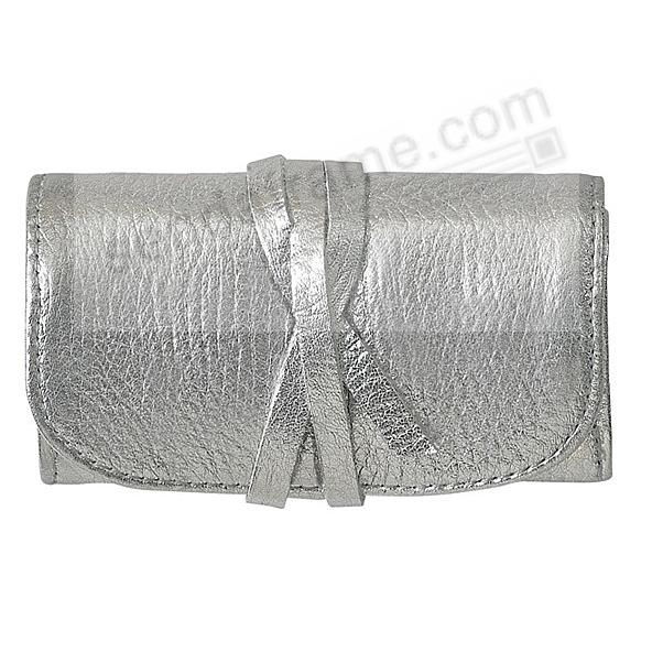 Metallics SILVER Fine Leather Jewel Roll by Graphic Image™