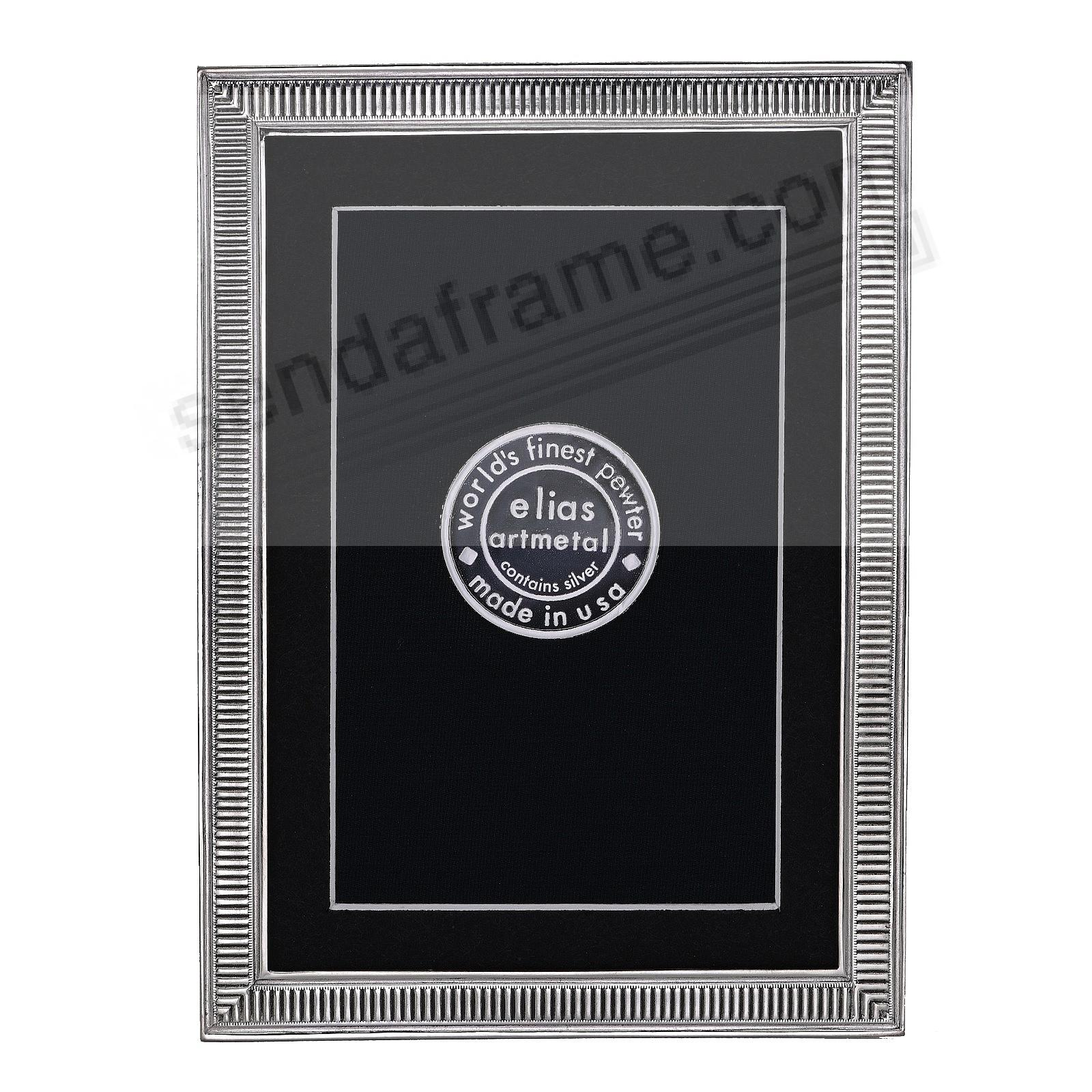 LINE BY LINE Fine Silvered Pewter frame 3½x5 by Elias Artmetal®
