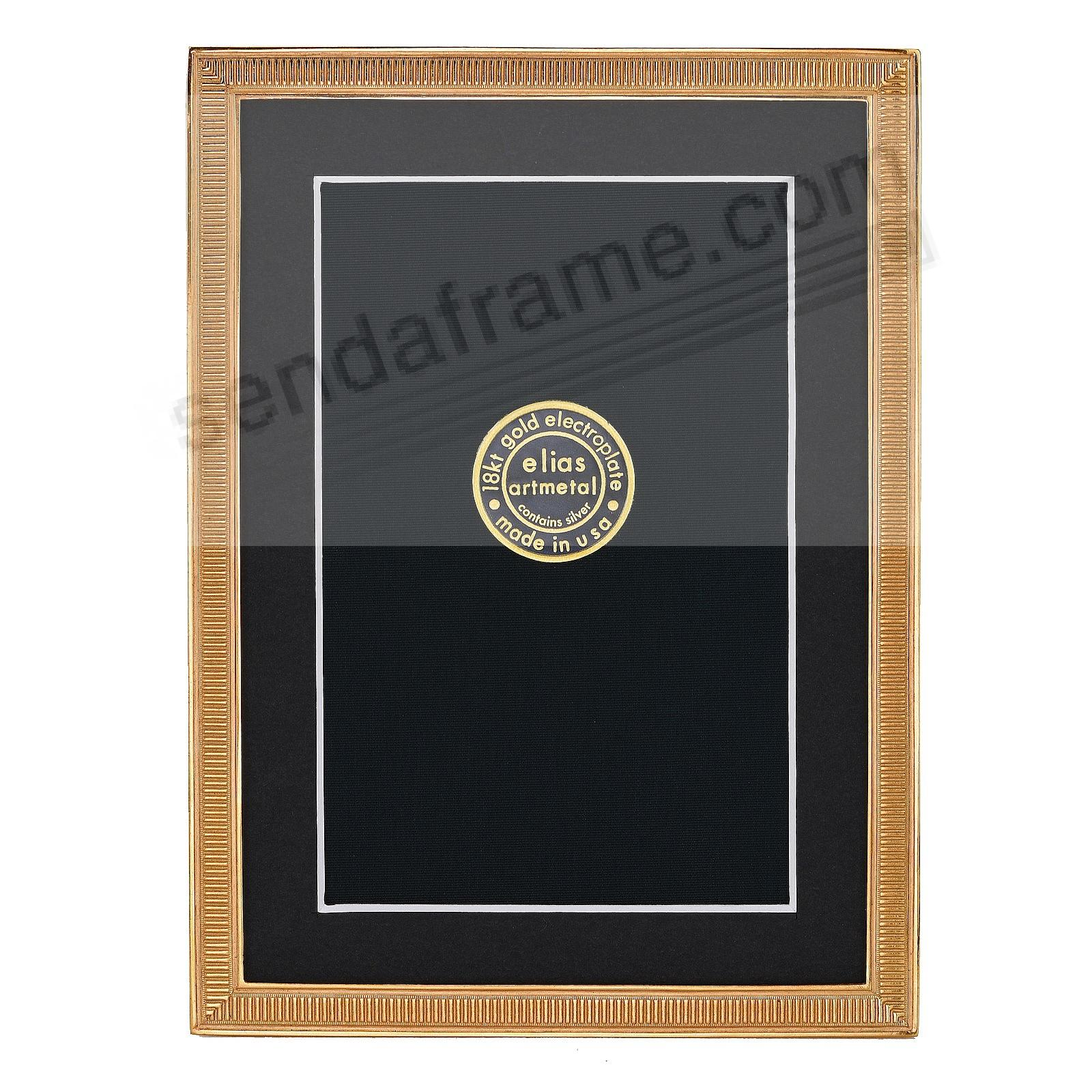 LINE BY LINE 18kt Museum Gold over Fine Pewter frame 5x7/4x6 by Elias Artmetal®