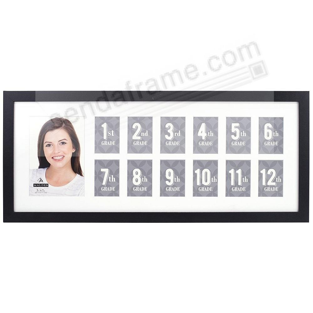 School Years Collage Frame 13-opening Black by Malden® - Picture ...