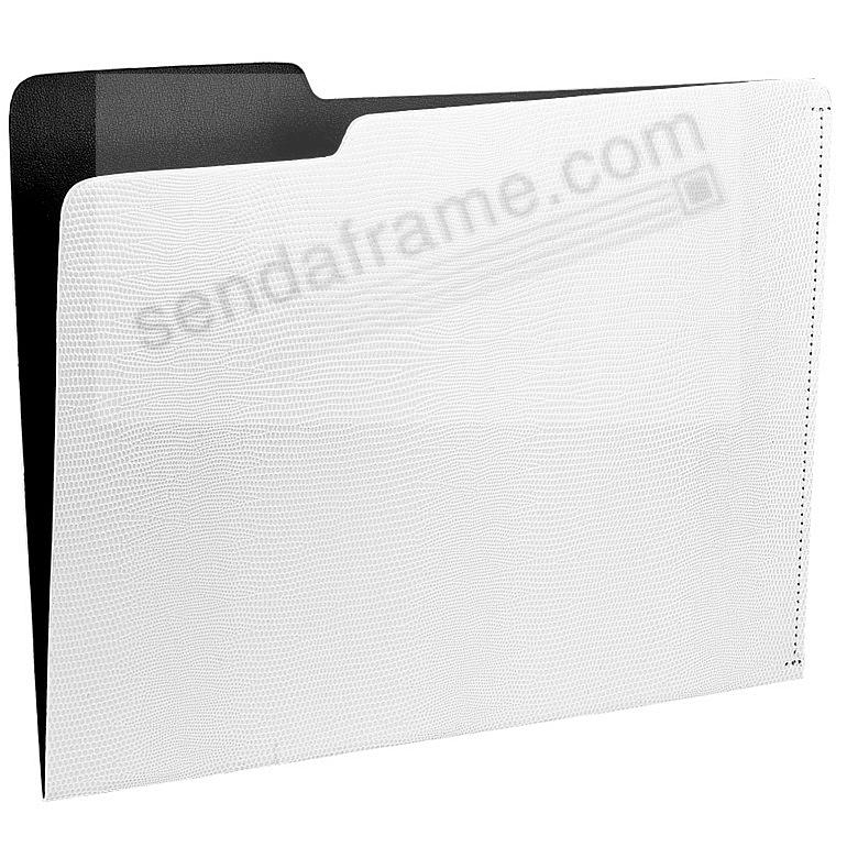 The CARLO File Folder WHITE/Black Lizard-Embossed Paper by Graphic Image®