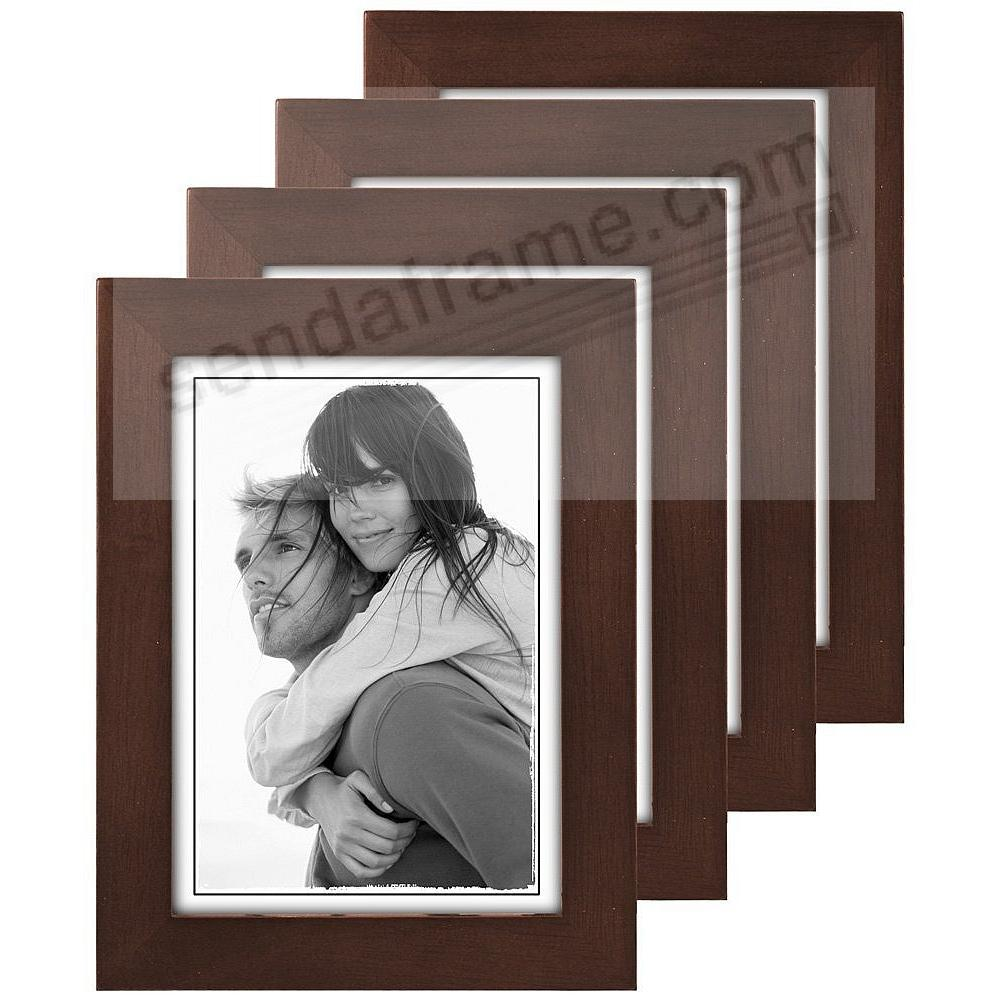 4-Pack) Dark-Walnut LINEAR classic 5x7 frame by Malden® - Picture ...