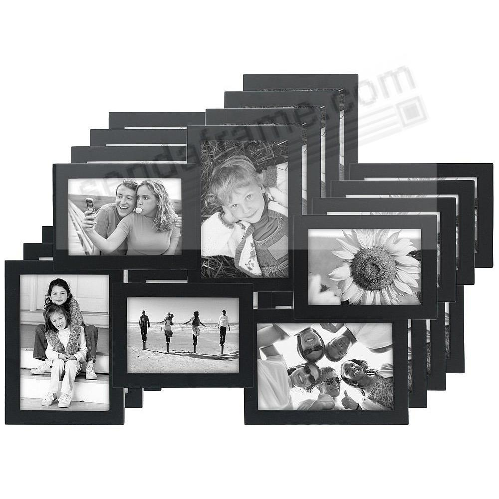 4-Pack) CROSSROADS Black 6 multi-opening wood collage frame for 3½x5 ...