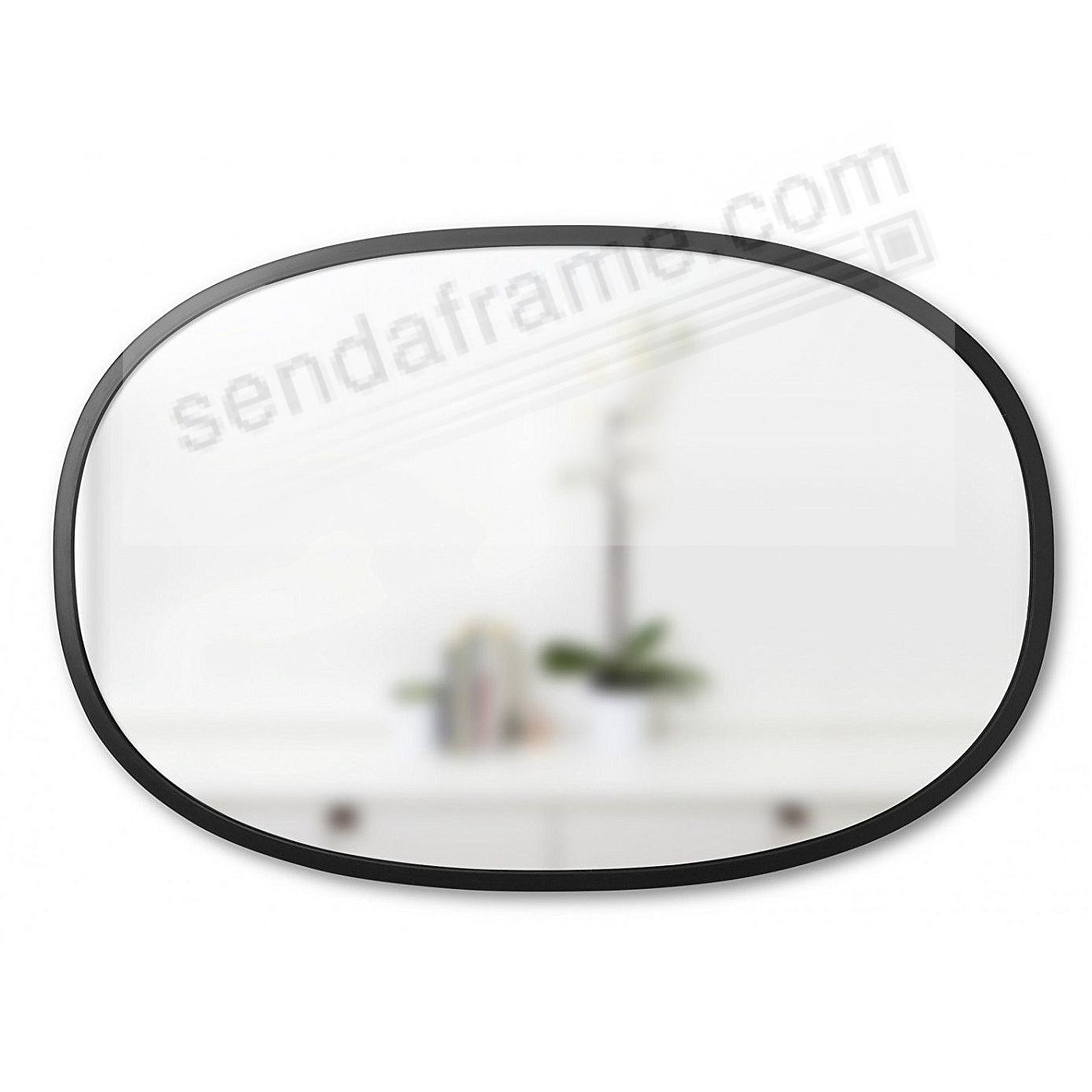 The HUB WALL MIRROR 36x24inch OVAL Black by Umbra®